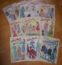 VOTRE MODE LOT DE 11 NUMEROS ANNEE 1947 LE JOURNAL DE LA FEMME ELEGANTE....
