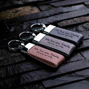 Personalised Monogram Leather Keychain: Wedding Birthday Christmas Gift