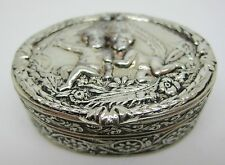 800 Silver ~ CHERUBS PILL BOX ~ Made in Italy