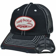 Swamp People Alligator History Channel Distressed Ripped Mesh Snapback Hat Cap