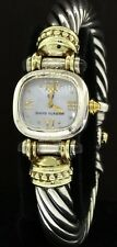 David Yurman T-4926 14K gold/Sterling silver 2.0CT tourmaline MOP ladies watch