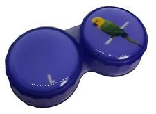 Purple Parrot Flat Contact Lens Storage Soaking Case - L+R Marked - UK Made