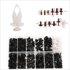 350 Pcs Car SUV Plastic Push Pin Rivet Trim Clip Panel Interior Assortment + Box