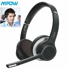 Mpow Trucker Driver Over Head Wireless Bluetooth 5.0 Headset Headphones with Mic