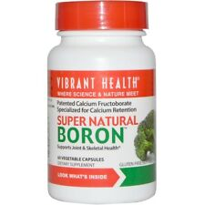 NEW VIBRANT HEALTH SUPER NATURAL BORON SUPPORTS JOINT & SKELETAL CONDITIONS CAPS