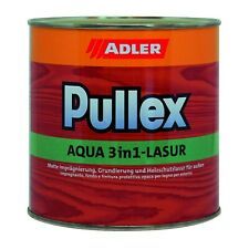 Pullex AQUA-3in1 LASUR  Finitura TRASPARENTE/PIGMENTATA al ACQUA per legno ADLER