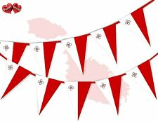 Malta Full Flag Patriotic Themed Bunting Banner 15 Triangle flags National