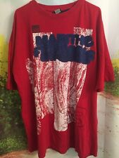 Marithe Francois Girbaud XXL Red Graphic T-Shirt 38 100% Cotton 2XL