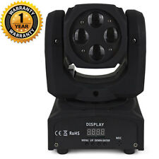 New 4x10w RGBW 4in1 LEDs Beam Mini Moving Head Light Stage DJ Party Event