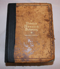 """VERY RARE & VERY LARGE – 1912 Webster's Monarch Dictionary """"Splendid Edition"""""""