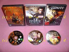 3 DVD's _ Conan & Der 13th Krieger & Attila der Hunne _ Noch mehr Filme im SHOP