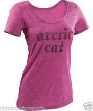 NEW WOMAN'S PINK ARCTIC CAT STUDDED RHINESTONE T-SHIRT SIZE MEDIUM 5249-472