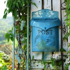 Rustic Vintage Metal Bird Mailbox Post Box Embossed Shabby Chic Primitive Decor