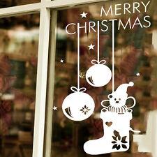 Snowflake Merry Christmas Snowman Socks Wall Sticker Decals Window Decor