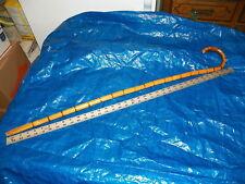 "Vintage 36"" Bamboo Crook Handle Walking Stick Cane"
