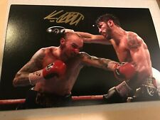 Kevin Mitchell v Jorge Linares Signed Photo. Boxing Memorabilia Autograph