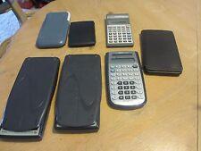 Lot of 7 Calculators - Scientific - HP - Sharp - Texas Instruments - TI