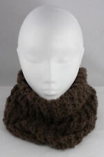 Ladies Chunky Knit Brown Snood Cowl Winter Warm Knitted