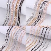 "Silver Gold Long ""O"" Chain Box Chain Necklace 24'' Fashion Men Women Jewelry"