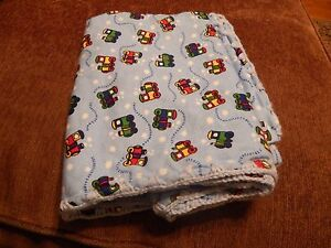 HANDMADE Baby Blankets and Burp Cloths -- Trains