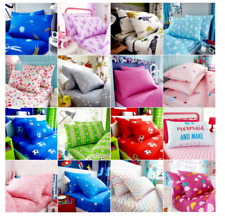 SINGLE Fitted Sheet & Pillowcase Set Bedding Kids Boys Girls Many Various Design