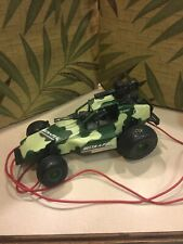 RC car buggy 1/16 scale remote wire control off road toy army desert vintage old