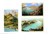 CPA Suisse Lémanique Lot de 3 cartes