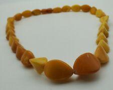🛎🛎🛎 RARE VINTAGE Egg Yolk Amber Beads Necklace EXELLENT ANTIQUE 45 gr! 🛎🛎🛎