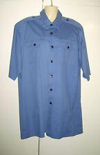 Para hombres Camisa Gris Militar RAF Piloto Trabajo Uniforme Elaborado Vestido Disfraz M/L Usado