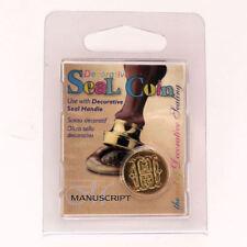 Manuscript Decorative Wax Sealing 18mm Coin Seal - Initial H