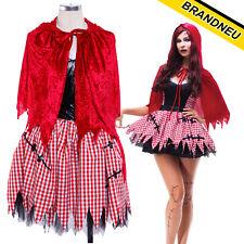 Little Dead Red Riding Hood Sexy Womens Zombie Halloween Fancy Dress Costume