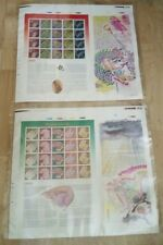 龙年 Malaysia 2000 Dragon Lunar New Year Uncut Sheetlet Stamp Pane Sheet Pair MNH