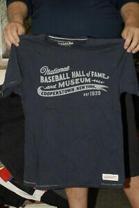 COOPERSTOWN BASEBALL HALL OF FAME T SHIRT MITCHELL & NESS DESIGNER MED NEAR MINT