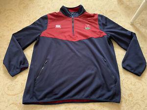 England Rugby Player Issue Training Fleece Top Size 4XL XXXXL