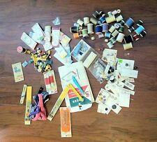 Junk Drawer Lot Sewing Supplies Bias Seam Embroidery Buttons Elastic Zipper 100+