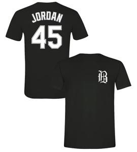 Michael Jordan T-Shirt Birmingham Barons/White Sox Soft Jersey #45 (S-3XL)