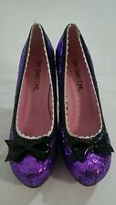 Ten Thirty One platform burlesque purple glitter heel pumps shoes sz 8 w bow