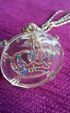 Collar de cristal y piedras ,corona monarquica