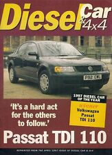 Volkswagen Passat TDi 110 SE Car Of Year & Road Test 1997 UK Market Brochure