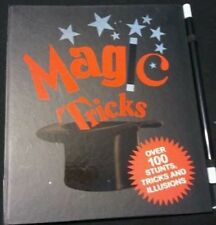 NEW Magic Trick Book Over 100 Stunts, Tricks, & Illsions+Wand by igloo-books.com