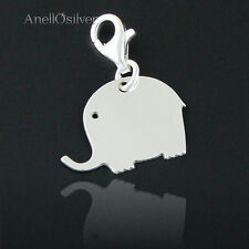 Silber 925 Anhänger Elefant für Glück Charms+ GRAVUR kostenlose Hohe Qualität