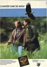 PUBLICITE ADVERTISING  1988   AIGLE  collection vetements et chaussures de pluie
