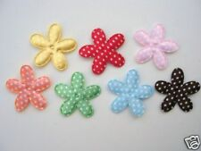 70 Satin Polka Dot Fabric Flower Applique/doll/trim/bowSewing/Craft/Padded H113