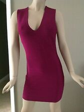 Marciano by Guess Purple Stretch Bandage Bodycon Dress Size L MSRP $148.00