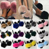 Women Real Fur Flat Shoes Fluffy Flip Flop Slippers Sliders Sandals Xmas  Gift