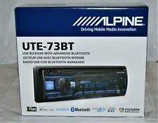Alpine UTE-73BT In-Dash Digital Media Receiver with Bluetooth and Pandora New