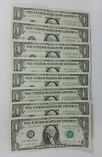 8x 1981 $1 Bank Notes $1 Dollar Bills Ordered Sequential Serial Numbers Circ.