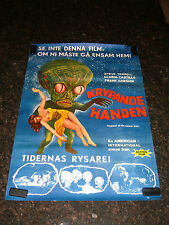 "INVASION OF THE SAUCER MEN Original  Movie Poster, 27.5""x39.5"", C7.5 Very Fine -"