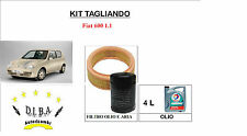 KIT TAGLIANDO OLIO MOTORE ERG 10W40 + FILTRI FIAT 600 SEICENTO 1.1 10/2000