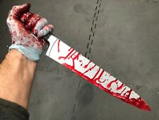 Fake Bloody Myers Kitchen Knife Weapon Halloween Costume PU Movie Prop Horror